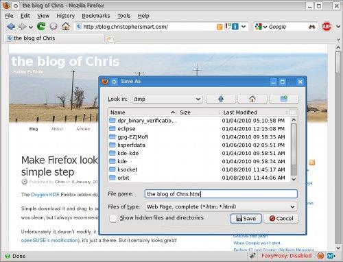 KDE Firefox themed